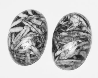 Beautiful Round Shape Natural Pinolith Cabochon Size 26x26x3 MM Wholesale Price AG-12596 Loose Semi Precious Pendant Stone Handmade