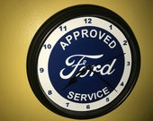 Ford FoMoCo AppService Motors Auto Mechanic Garage Bar Advertising Man Cave Wall Clock Sign