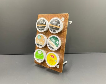 """K Cup Coffee Holder """"Pick-A-Cup"""" Rustic Look"""