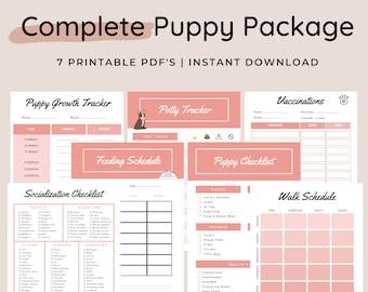 PRINTABLE Puppy Planner, Dog Tracker, Puppy Checklist, Pet Planner, Dog Mum Planner, Dog Printable, Puppy Worksheet, Puppy Training