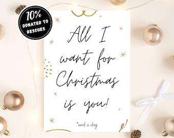 PRINTABLE Boyfriend Christmas Card, Funny Christmas Card, Christmas Card for Him, Christmas Card for Husband, Merry Christmas Card, Gift