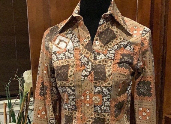 1970's Western Snap Shirt- Blouse