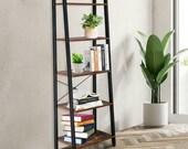 5 Tier Ladder Shelf Bookcase Plant Flower Display Shelving Unit Stand Metal Rack Vintage Shelving UK