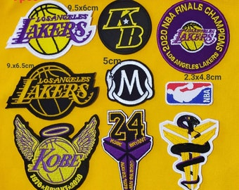 Kobe Bryant Los Angeles Lakers Heavenly Sport Embroidery Patch,iron,sewon Fabric
