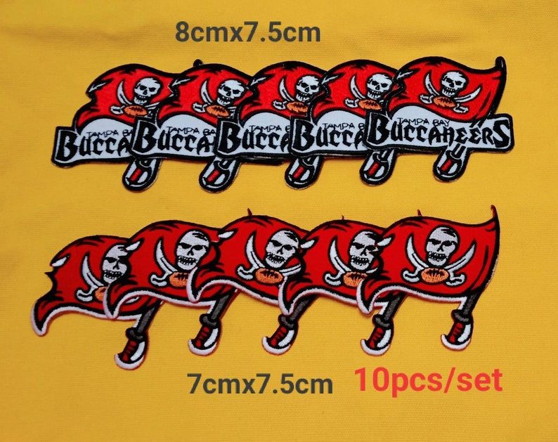 Tampa Bay Buccaneers patches logo iron on sewing on clothes