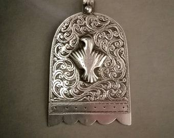 protective jewelry. MAROC Ancient Berber silver khamsa handmade in essaouira Berber jewelry Hand of Fatima ancient hamsa