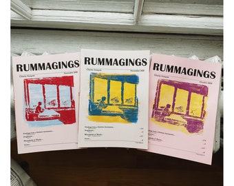 RUMMAGINGS literary zine