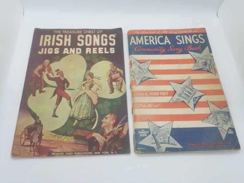 Irish Songs Jigs & Reels and America Sings Community Song Book image 0