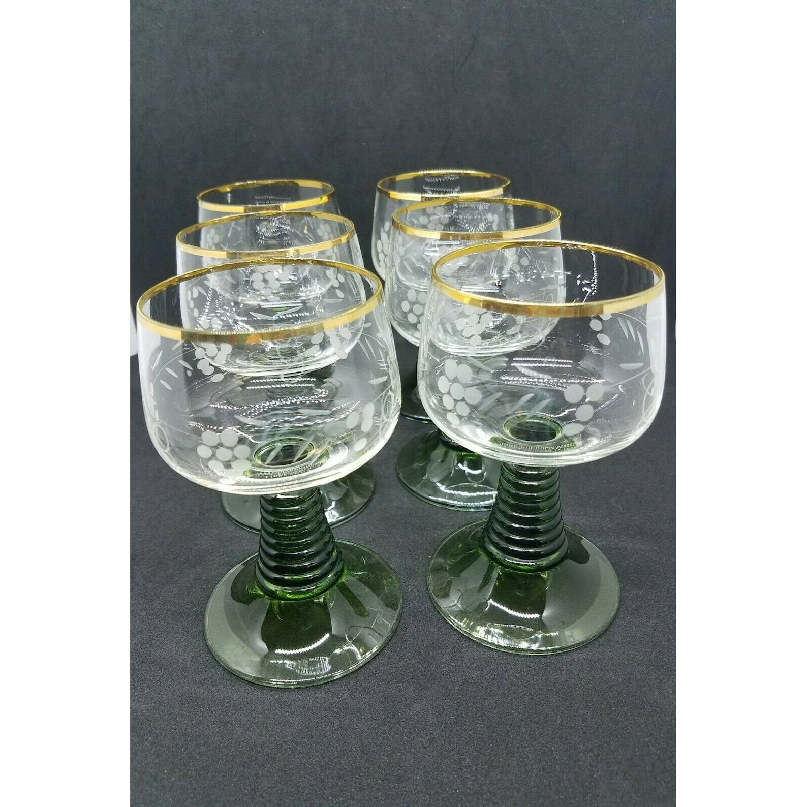 6 Römer wine glasses