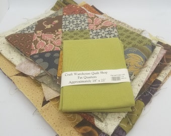 Quilt Scraps Quilted Fabric Remnant Scrap Pieces Cotton Plus One Fat Quarter