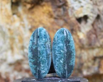 38 x 30mm TD110-38-GN02 Lightweight Plastic Jewelry Supply Findings Double Sided Acrylic Earring Pieces 4 Mint Green Teardrop Pendants
