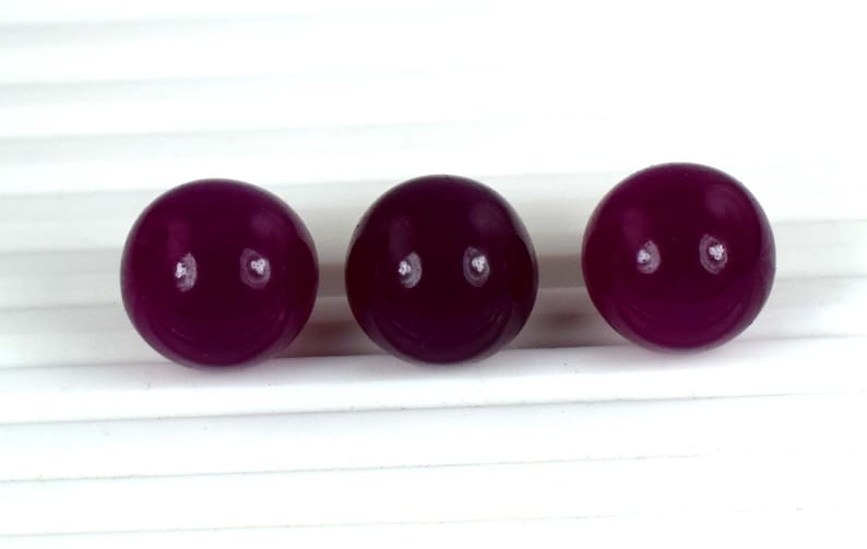 Discount Offer 90 Ct Pigeon Blood Red Ruby Gemstone 3 Pcs Lot Round Shape Ball Natural African