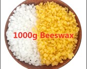 NEW 1000g Pure Natural Beeswax Wax Candles Making Supplies 100 No Added Soy Wax Lipstick DIY Material yellow and white beeswax