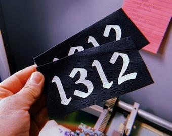 1312 Sew on Punk Patch