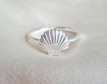 Cuff Ring Adjustable Ring Shell Ring Open Ring Shell Jewelry Seashell Ring Delicate Ring Shell Rings Nature Ring Sea Ring Rings for Women