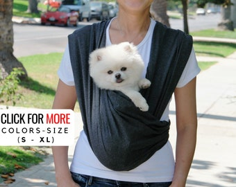 Dog Sling Carrier for Small Dogs, Pet Sling, Cat Carrier-Front and Sling Convertible Design - Premium Cotton, Stylish Dog Carrier, Dog Gift