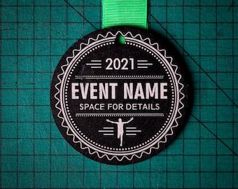 Personalised Welsh Slate Medal Design 12 Custom Medals Race Award Personalized Marathon 10k Run Virtual Cycle Football Swim Finisher Sports