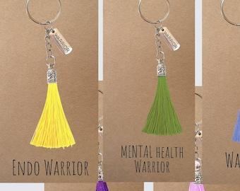 Custom Warrior key ring, key chain | Chronic Pain, Fibromyalgia Warrior, Endometriosis Warrior, Mental Health Warrior, Breast Cancer Warrior
