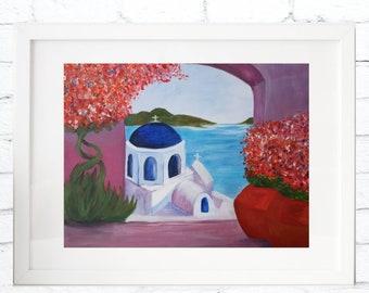 Giclee fine art print | Santorini, Greece