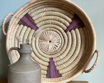 Vintage wicker basket/ tray
