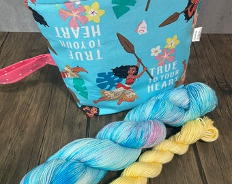 Special* Moana - Project bag and Sock Set, Fingering Weight 75/25 SW Merino-Nylon