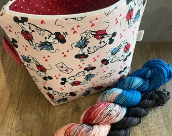 Special**Love Letters - Project Bag and DK Sock Set  75/25 SW Merino-Nylon