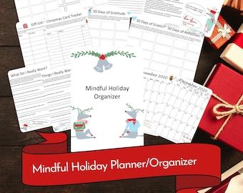 Mindful Holiday Planner/Organizer Printable PDF Download
