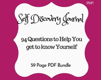 Self Discovery Journal  Instant Download PDF Journal Questions