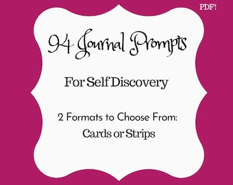 94 Journal Prompts for Self Discovery