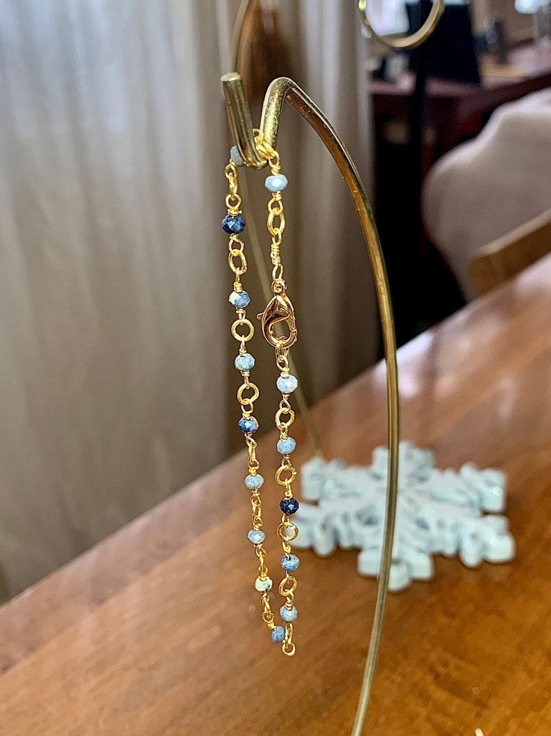 24k GoldGold vermeil sapphire bracelet