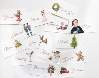 Christmas Place Cards Set