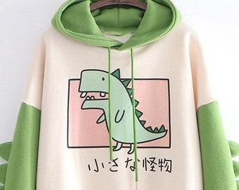 Keepsake Gift Cute Personalised Dinosaur Boy/'s Blue Hoodie Baby Boy Hoodie Glitter T-Rex Matching Hoodys Hooby Hoodie Sweater Jumper