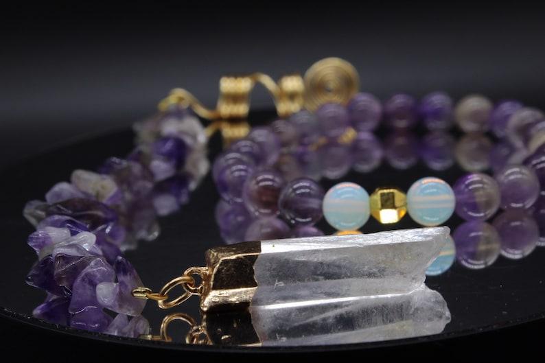 Amethyst Bracelet and LocJewelry Set