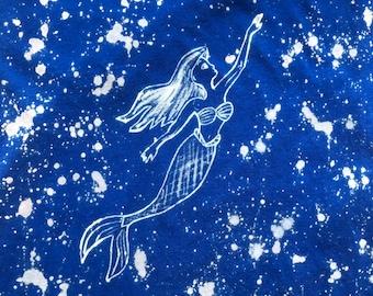 Little Mermaid Bleach Dyed T-Shirt