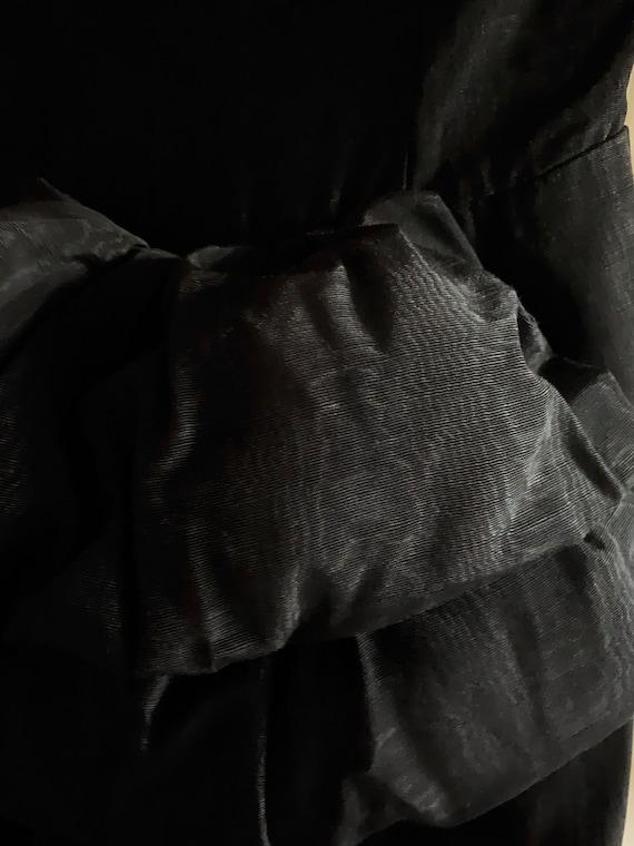 Vintage Grosgrain Cocktail Dress - image 3