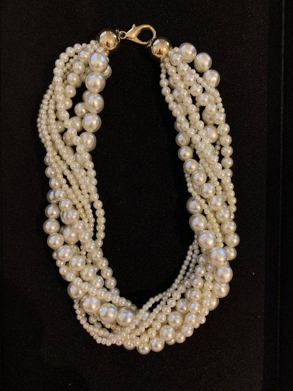 Vintage Faux Pearl Torsade - image 1