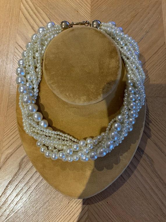 Vintage Faux Pearl Torsade - image 3
