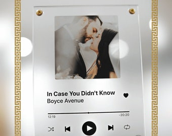 wedding gift • acrylic song plaque • spotify music poster • personalized glass art for married couples, wedding anniversary