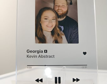 song plaque custom apple music • spotify song plaque • song poster • song print