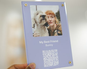 Memories by Staats (Video Interactive Gift Acrylic Personalized Customized Plaque Digital QR Code, Special Moments)