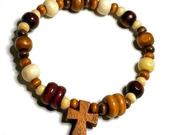 Wooden Rosary Bracelet
