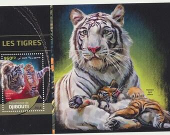 DJIBOUTI mint Souvenir sheet, majestic TIGER