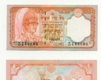 NEPAL 2 different PAPERMONEY/currency crisp Uncirculated real money from the Himalayan country