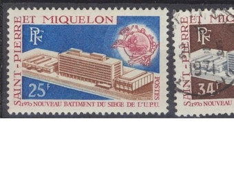 St Pierre & Miquelon complete set of used stamps UPU