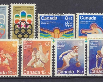 CANADA 1976 olympic set of 12 semi-postal stamps USED