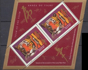 CANADA  Souvenir Sheet CHINESE NEW Year - Year of Tiger - Lozenge shape Mint as issued