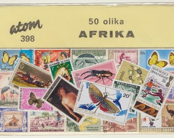 AFRICA 50  different used, many topicals,  (STOCK PHOTO)