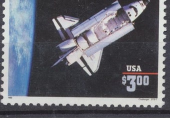 US SPACE SHUTLE on stamp #2544 used high value express mail