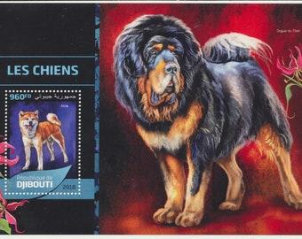 DJIBOUTI mint Souvenir sheet, DOGS
