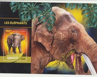 DJIBOUTI mint Souvenir sheet, ELEPHANTS